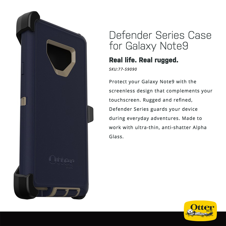 purchase cheap 0591a 4e845 OtterBox Defender Case - Samsung Galaxy Note 9 (Blue)